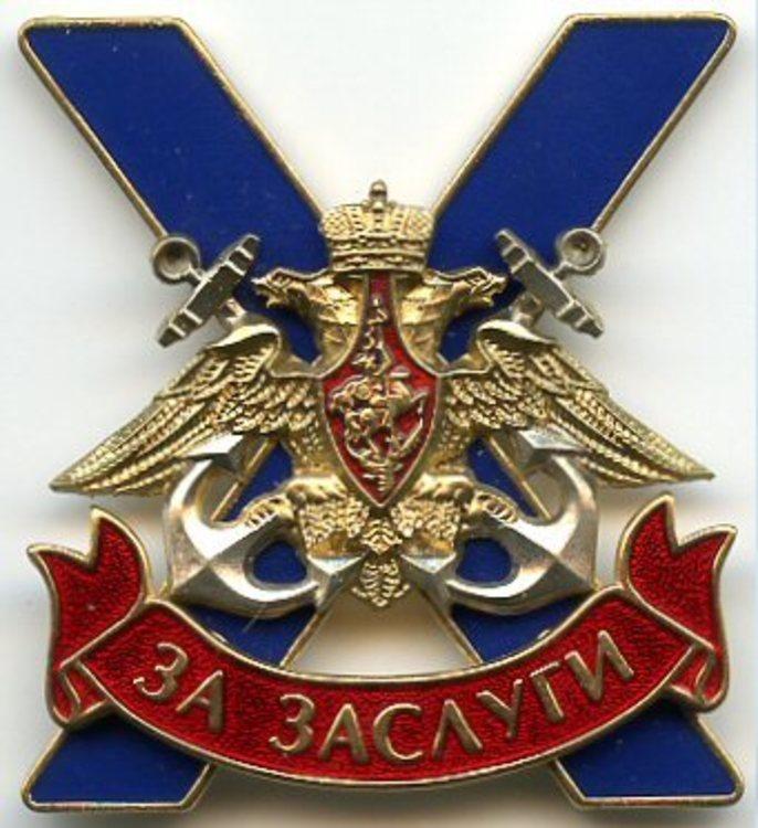 Navy badge for merit