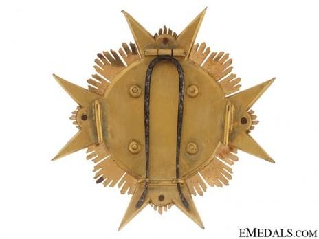 Grand Cross Breast Star (with bronze gilt) Reverse