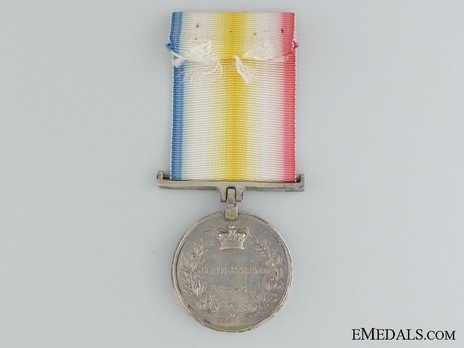Silver Medal (for the Battle of Hyderabad) Reverse