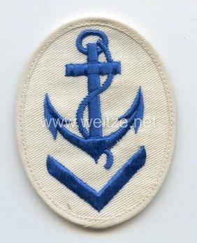 Kriegsmarine Obermaat Boatswain Insignia (embroidered) Obverse