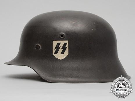 Waffen-SS Single Decal Steel Helmet M42 Left