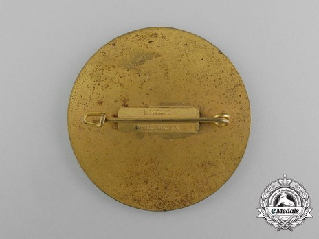 Tyrolean Marksmanship Gau Achievement Badge, Type III, in Gold Reverse