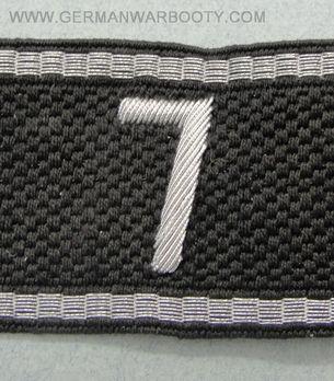 Allgemeine SS 7th Standarte Cuff Title Obverse