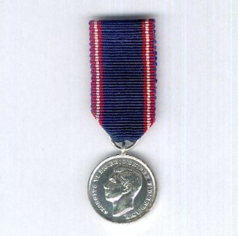 Miniature silver medal 1936 1948 obverse 1
