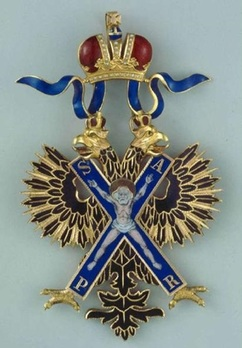 Order of Saint Andrew the First-Called I Class Badge (Civil Division) Obverse
