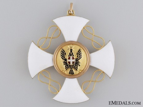 Order of the Crown of Italy, Grand Cross Reverse