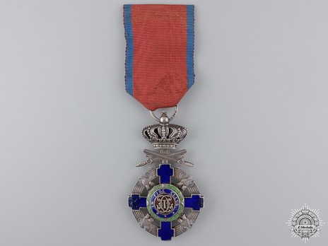 The Order of the Star of Romania, Type II, Military Division, Knight's Cross (peacetime) Obverse
