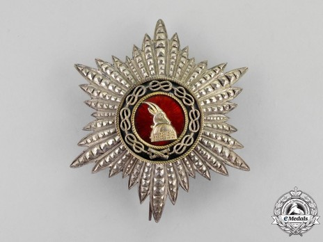 Order of Fidelity, Type II, Grand Officer's Breast Star Obverse