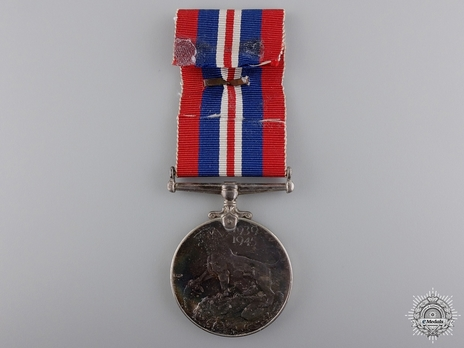 Silver Medal (with silver, with bronze clasp) Reverse