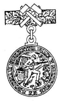 Decoration for Long Service in the Mining Industry, III Class Obverse