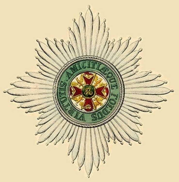 Star of the order of the golden eagle wurttemberg