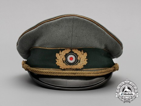 German Army General's Post-1943 Visor Cap (with cloth insignia) Front