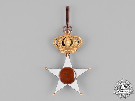 Order of the Colonial Star of Italy, Commander Cross Reverse