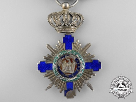 The Order of the Star of Romania, Type I, Military Division, Officer's Cross (wartime) Obverse