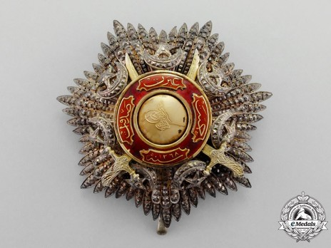 Order of Medjidjie, Military Division, I Class Breast Star Obverse