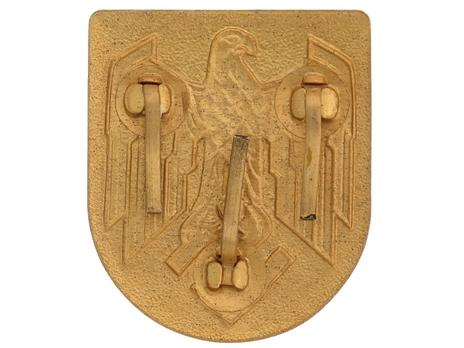 Kriegsmarine Wehrmacht Eagle Shield Decal Reverse