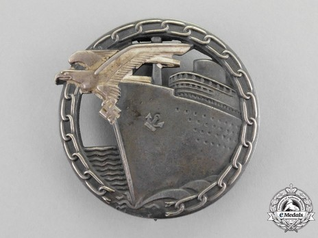 Blockade Runner Badge, by C. Schwerin (in tombac) Obverse