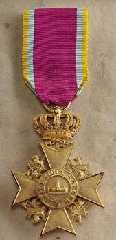 Order of the Wendish Crown, Gold Merit Cross