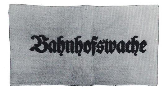 German Army Railway Station Guard Armband Obverse