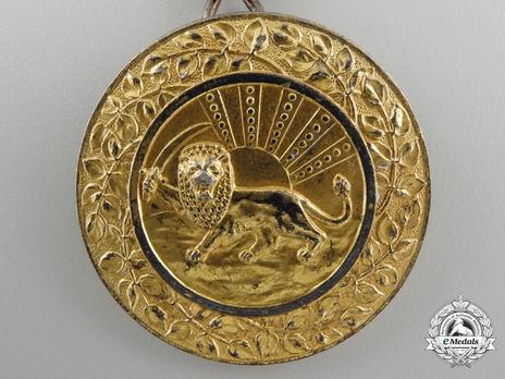 Order of Homayoun, Gold Medal Obverse
