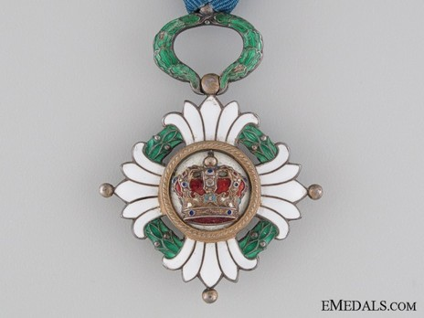 Order of the Yugoslav Crown, Officer's Cross Obverse