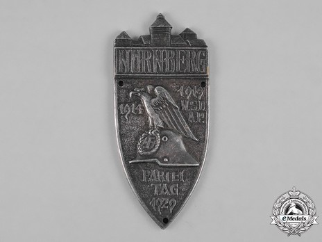 Nuremberg Party Rally Badge, in Silver Obverse