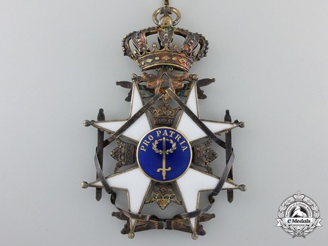 II Class Knight Grand Cross (with silver gilt and gold) Reverse