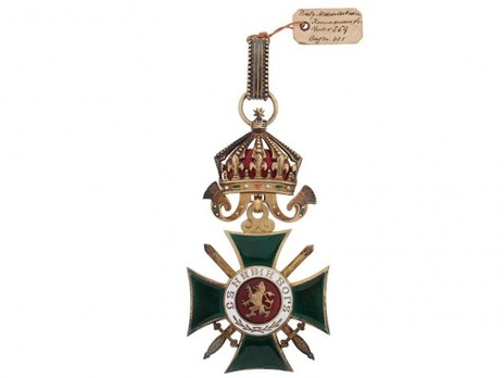 Order of St. Alexander, Type II, Military Division, III Class Commander Obverse