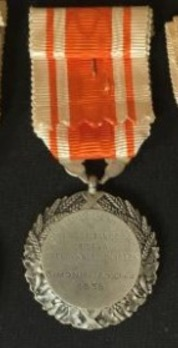 "Hygiene Medal, Silver Medal (stamped ""O.ROTY"") Reverse"