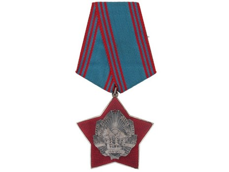 Order for Special Merit in the Defence of the State and Social Order, III Class Breast Star Obverse