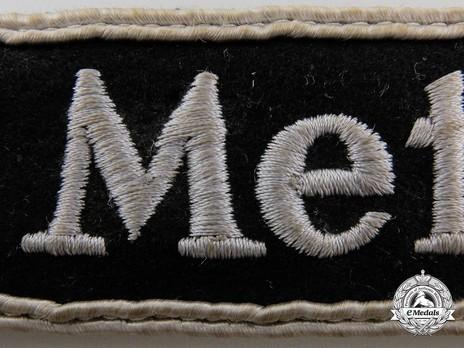 German Army Metz 1944 Cuff Title Detail