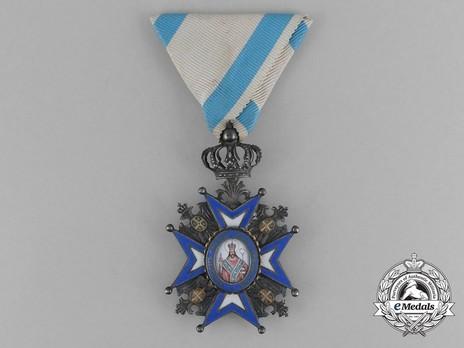 Order of Saint Sava, Type III, V Class Obverse