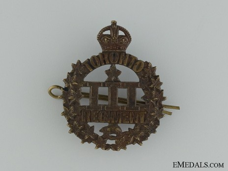 3rd Infantry Battalion Other Ranks Cap Badge (Void) Obverse