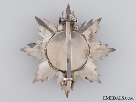 Order of Skanderbeg, Type I, Grand Cross Breast Star Reverse
