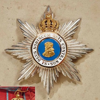 Order of Philip the Magnanimous, Type II, Grand Cross Breast Star (with crown)