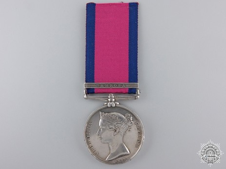 "Silver Medal (with ""BARROSA"" clasp) Obverse"