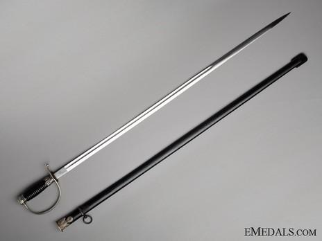 Allgemeine SS NCO Sword Obverse with Scabbard