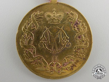 Commemorative Medal for the Serbo-Turkish War 1876-1878, in Gold Reverse