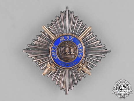 Military Division, Type II, II Class Breast Star (with swords, in silver gilt)