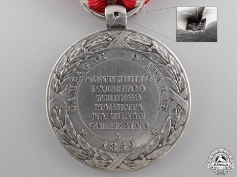 "Silver Medal (stamped ""BARRE"") Reverse"
