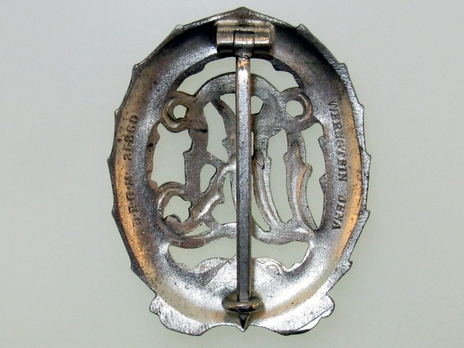 DRL Sports Badge, in Silver Reverse