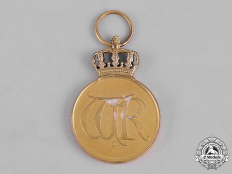 Order of the Crown, Civil Division, Type II, Gold Medal Obverse