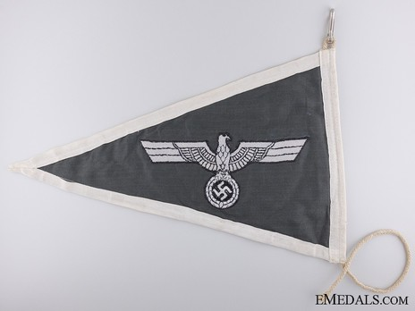 German Army Officer's Pennant Reverse