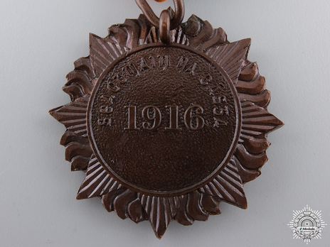 1916 Medal in Bronze (unnamed) Reverse