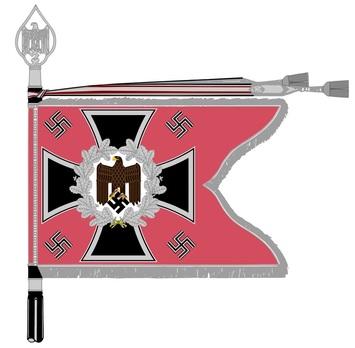 German Army General Army Unit Flag (Panzer version) Obverse