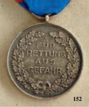 Life Saving Medal, 1927, in Silver