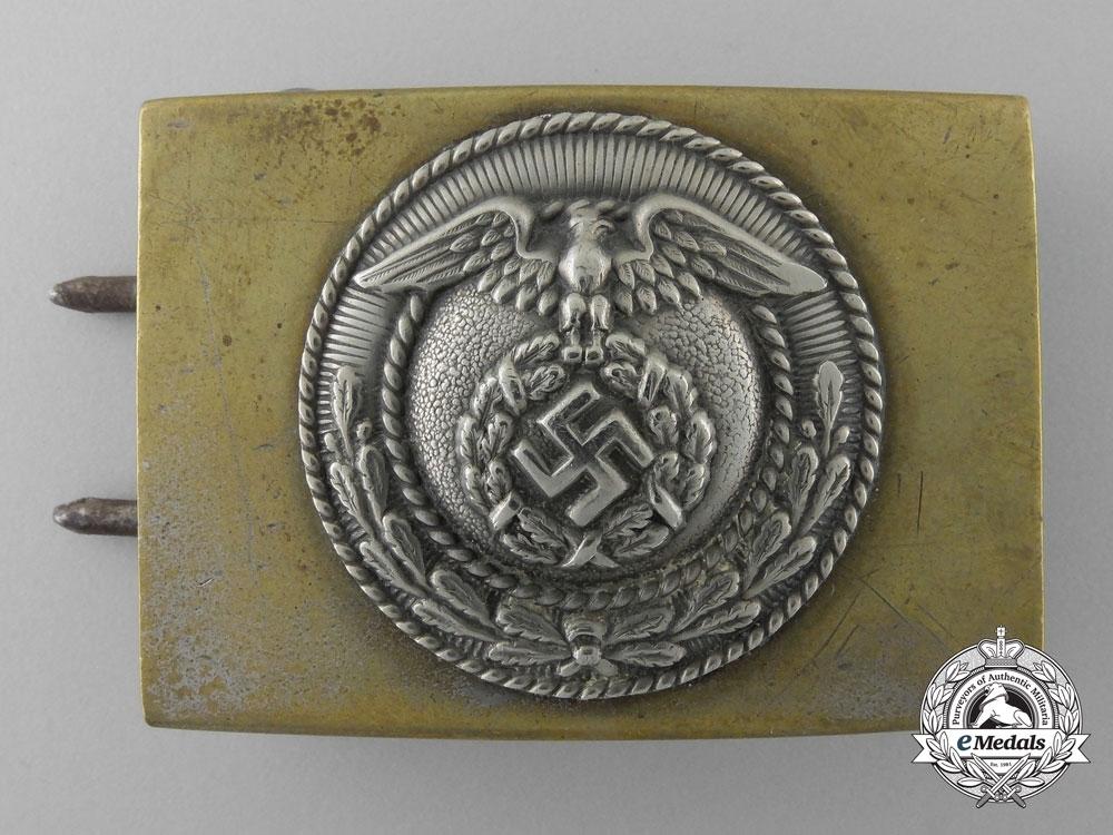 Hj non officer pre 1933 belt buckle bronzed nickel silver obverse