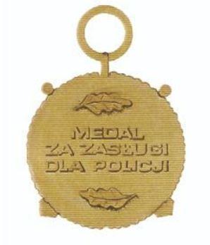 Medal for Police Merit, I Class Reverse