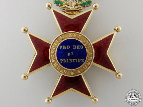 Order of St. Gregory the Great Knight (Civil Division) (with gold) Reverse
