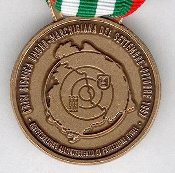 Commemorative Medal for the Emergency in Umbria and Marche 1997, in Bronze Obverse